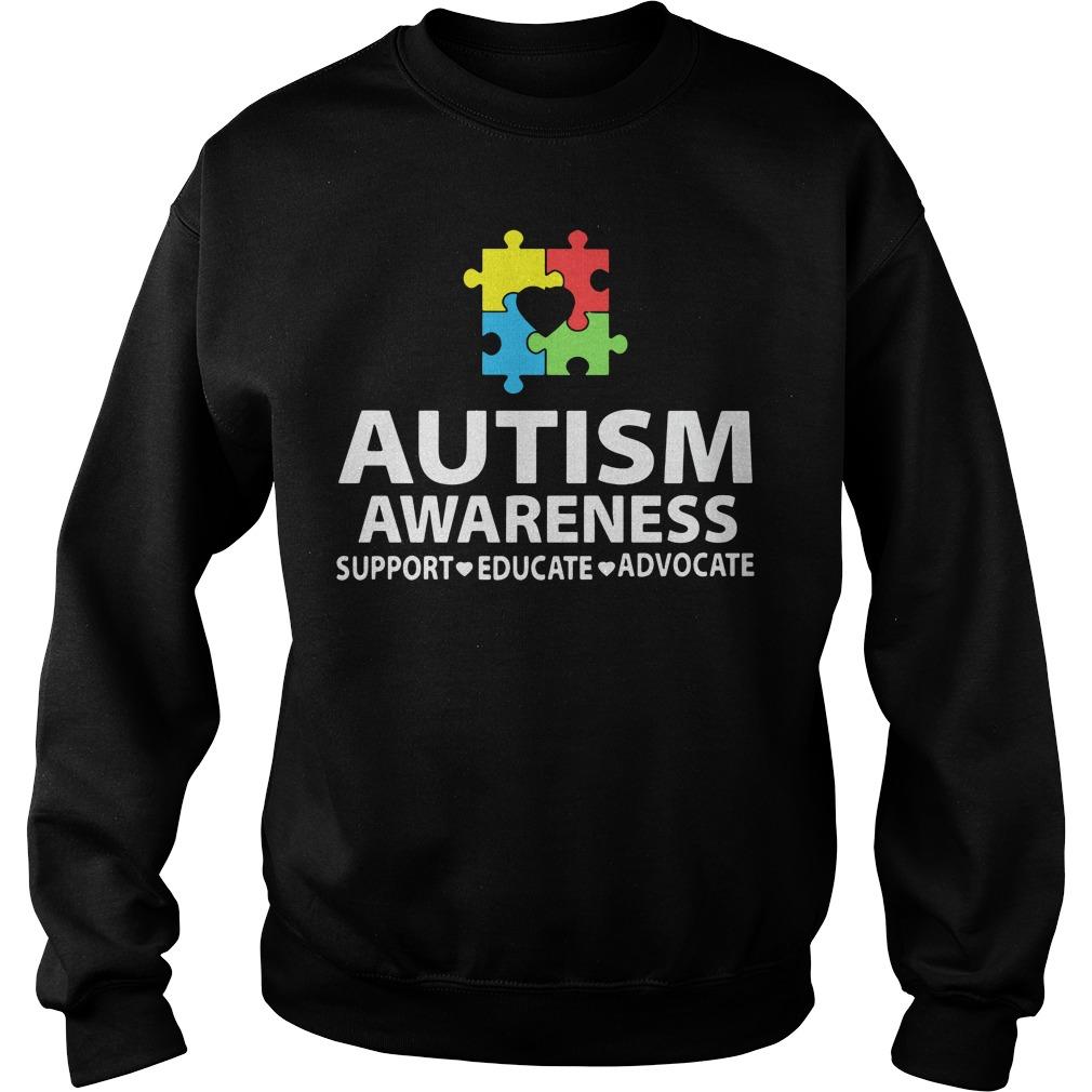 Autism awareness sweatshirts