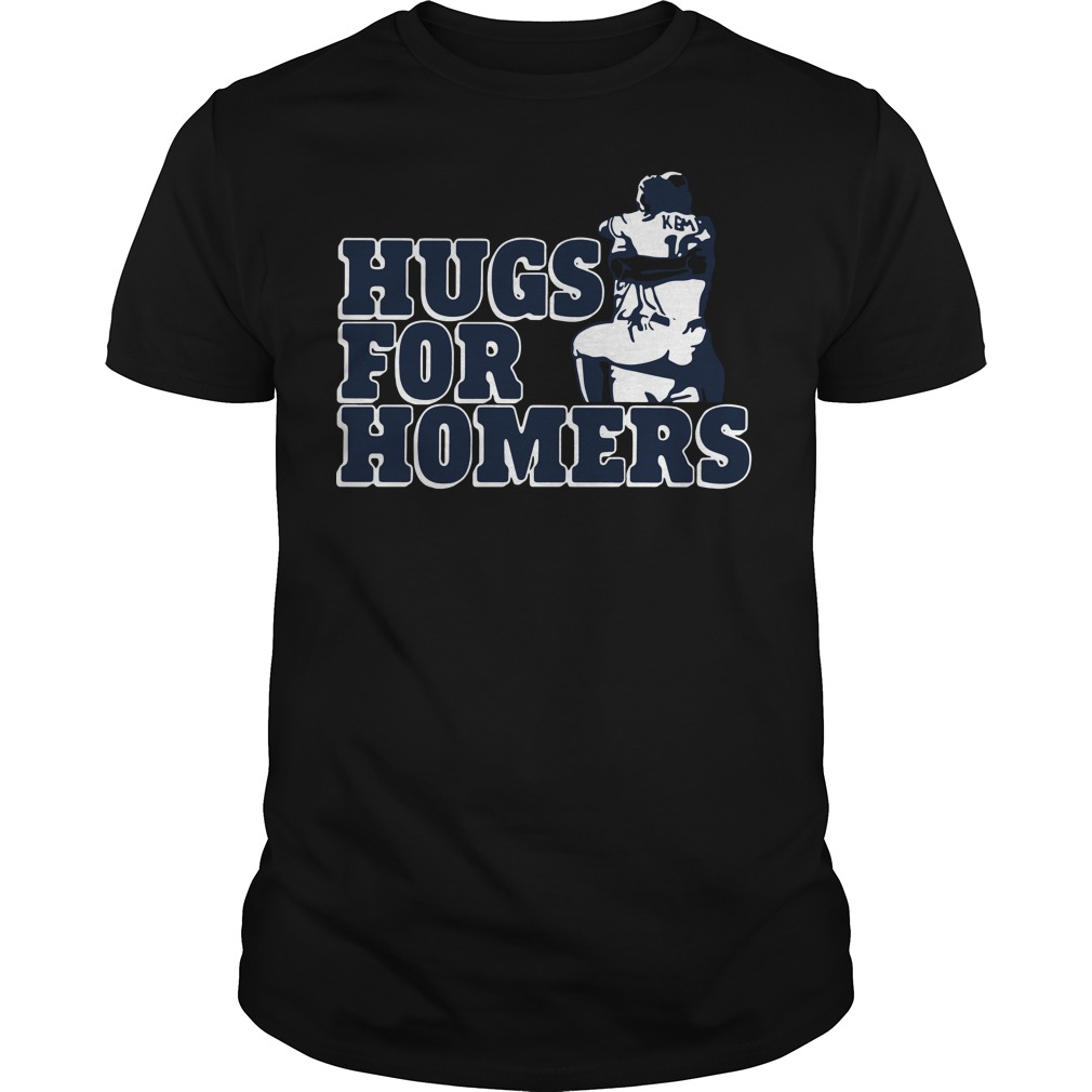 Official Kemp selling Hugs for Homers Guys tee