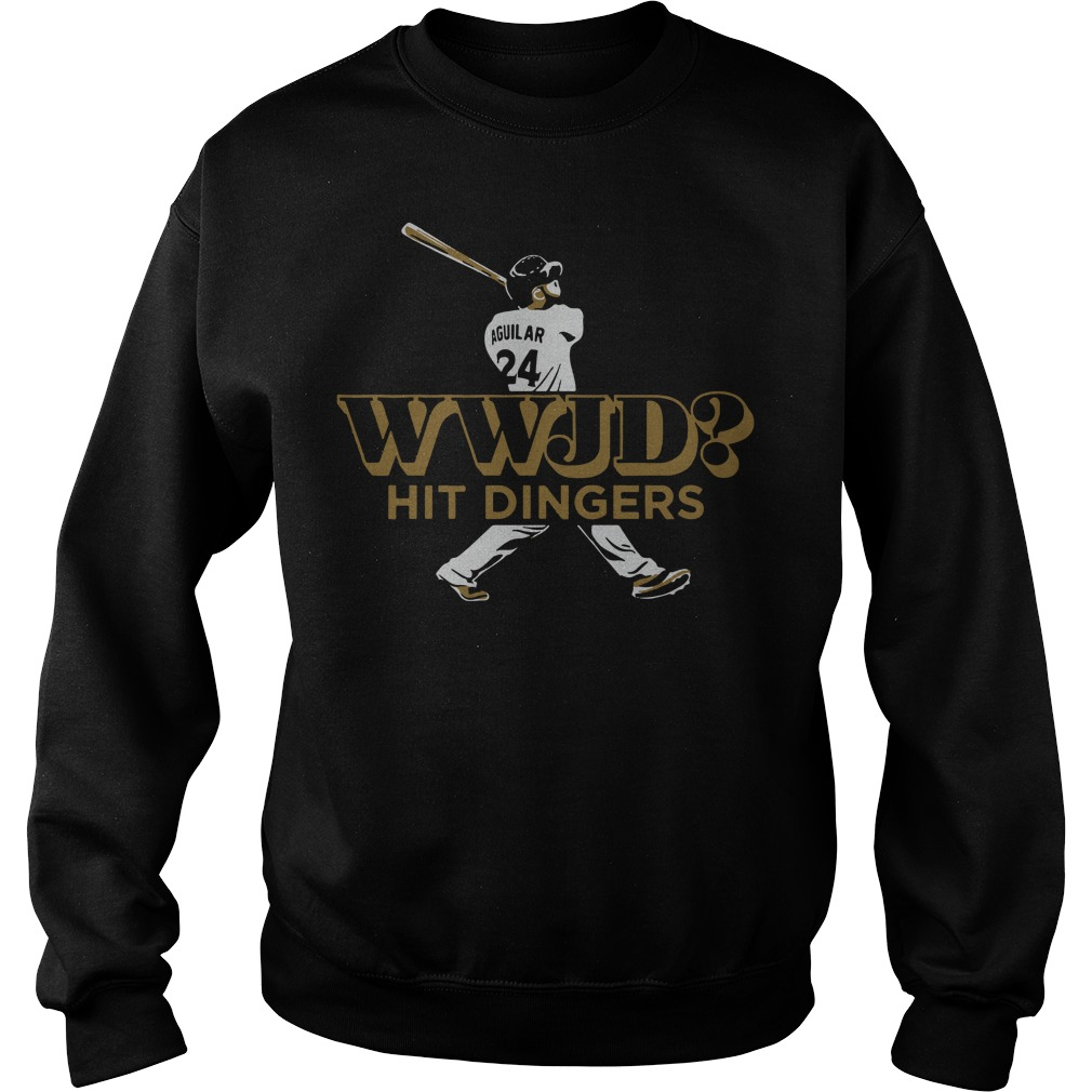 Jesus Aguilar WWJD hit dinger Sweater