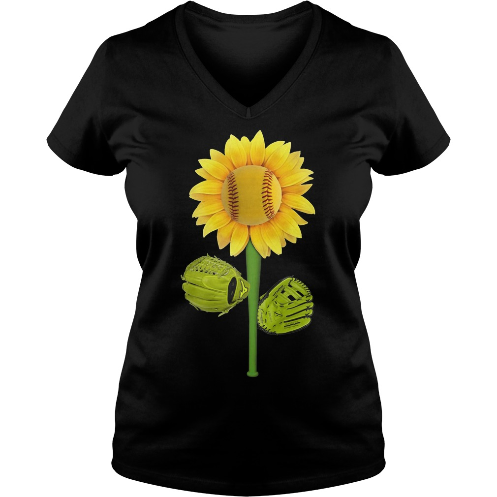 Official Baseball Sunflower V-neck