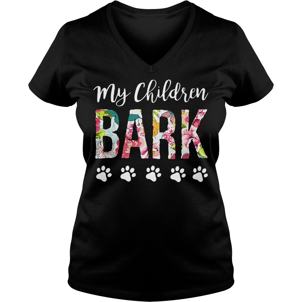 Official My children BARK dog V-neck
