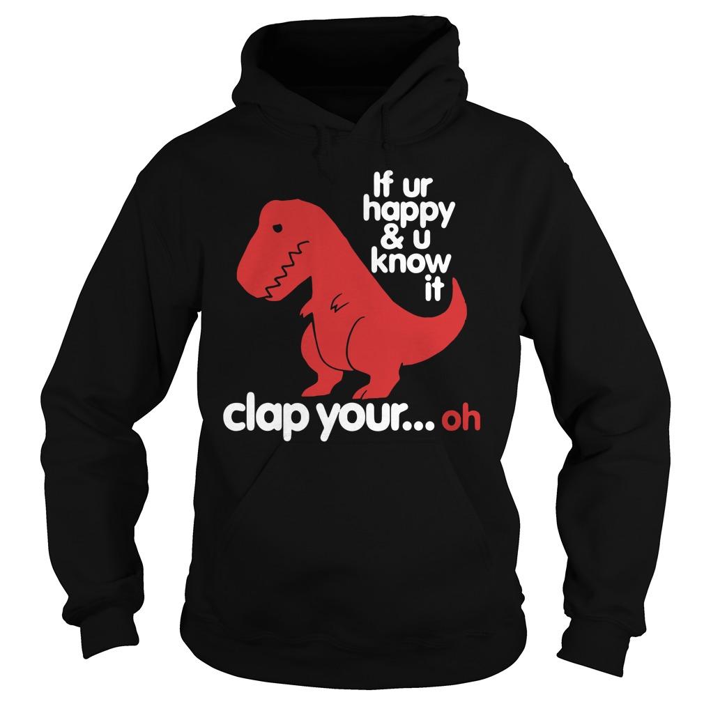Sad T-rex clapping dinosaur Hoodie