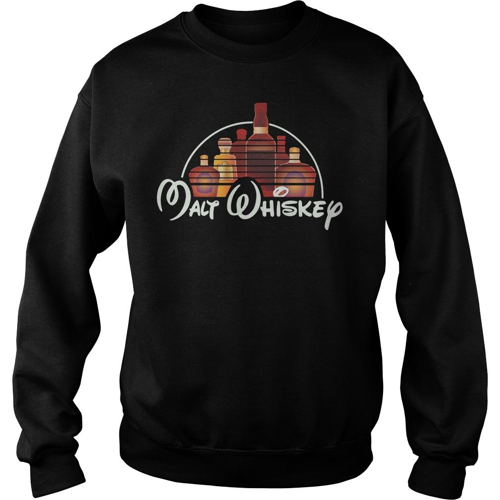 Malt Whiskey Not Walt Disney Sweater