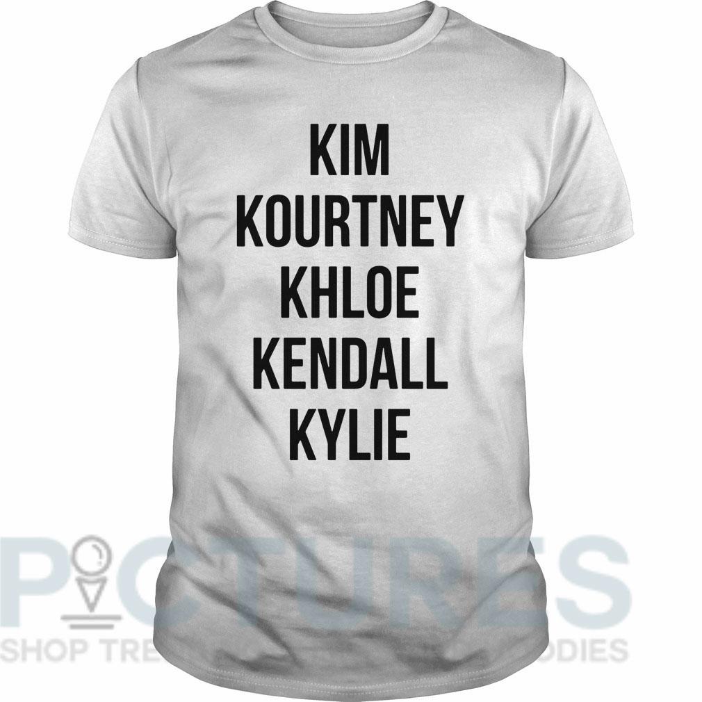 Kim Kourtney Khloe Kendall Kylie Guys tee