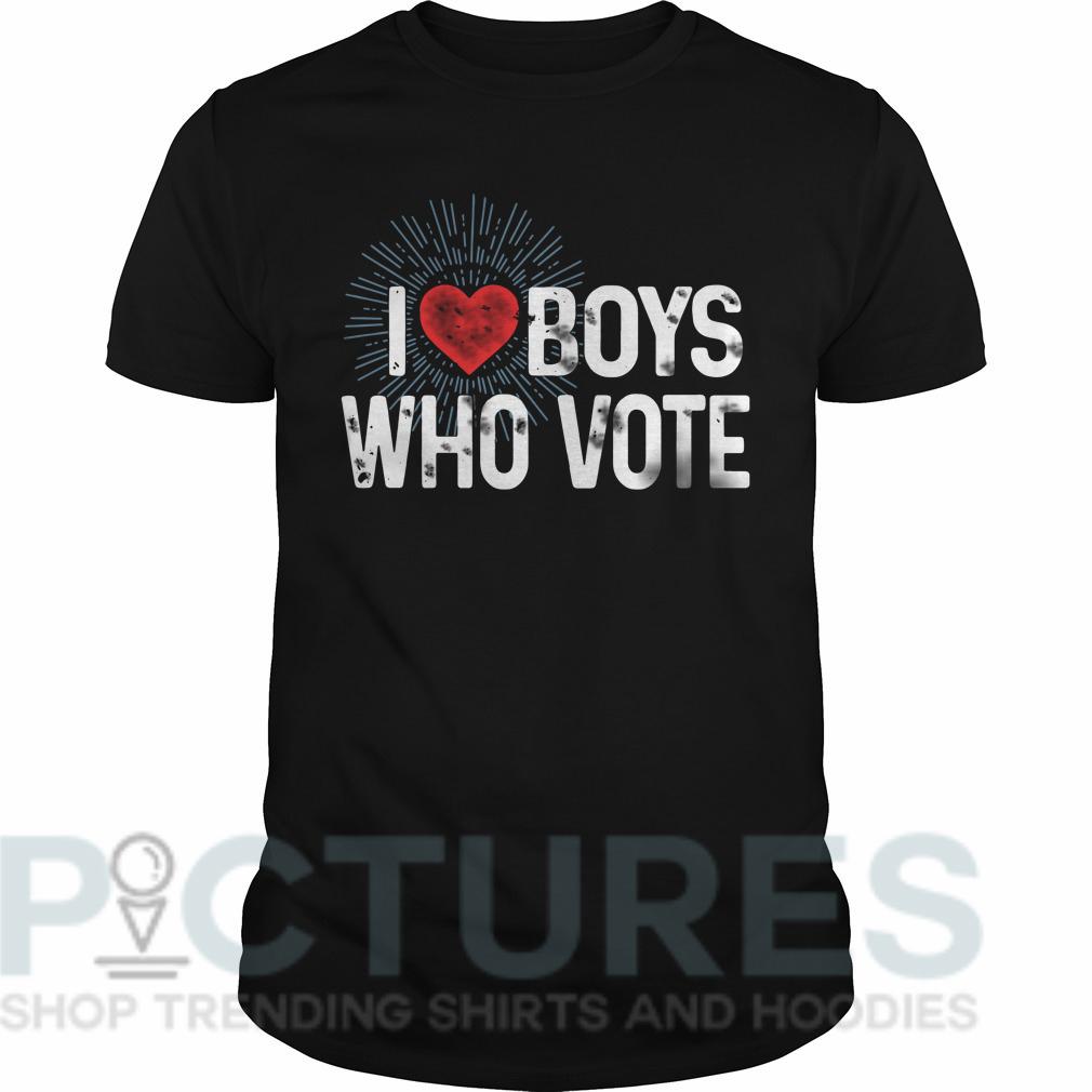 I love boys who vote Guys tee