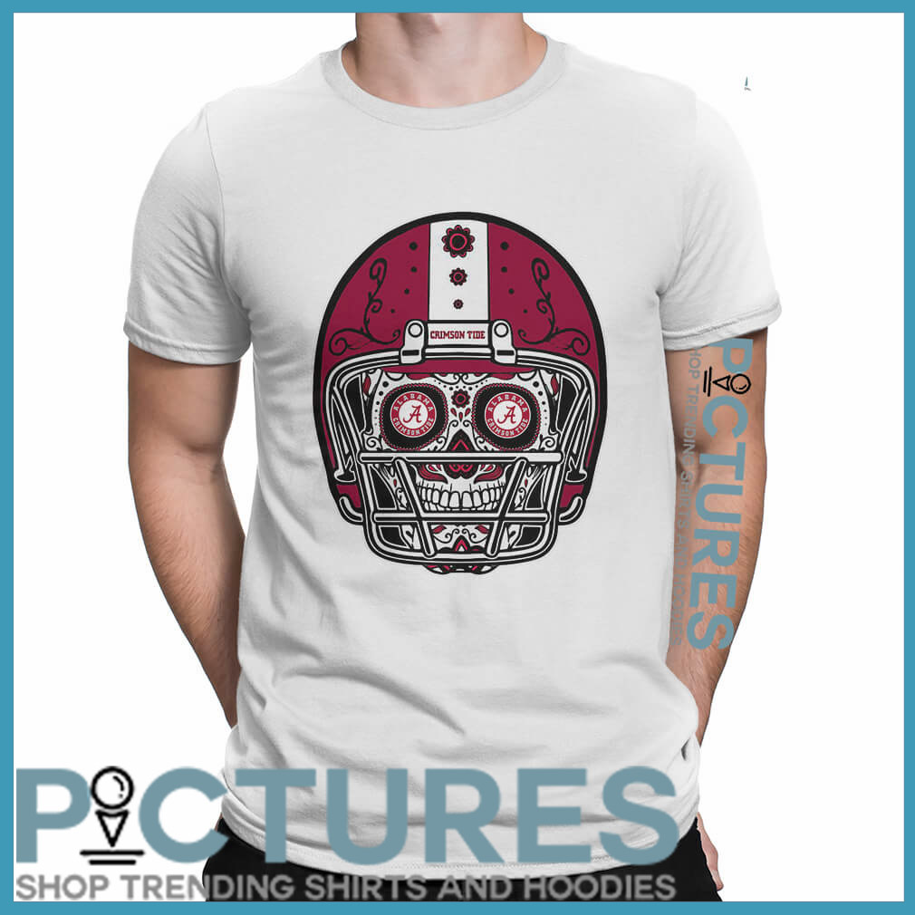 Skull helmet Alabama Crimson Tide shirt