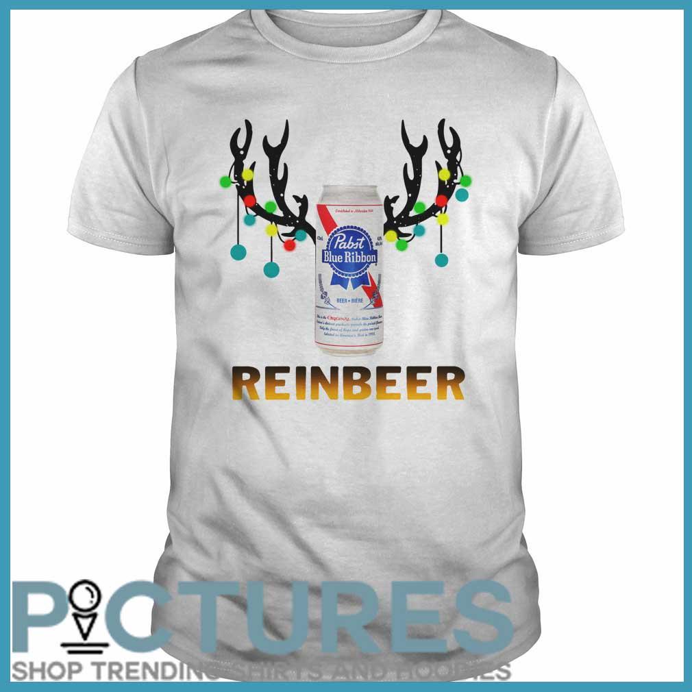 Christmas Reinbeer Pabst Blue Ribbon Light Steel classic guys