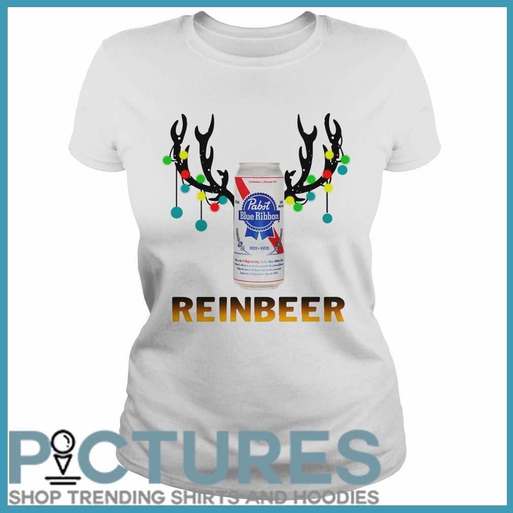 Christmas Reinbeer Pabst Blue Ribbon Light Steel ladies