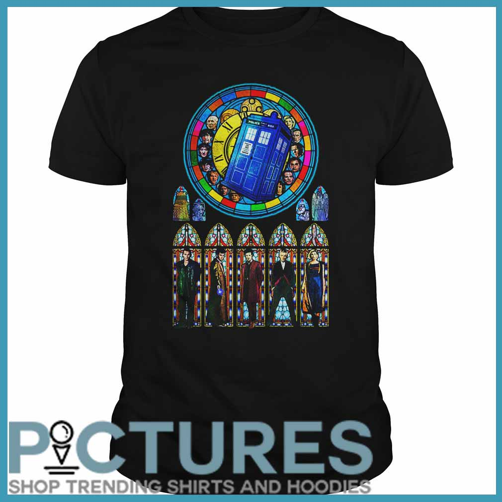 Doctor Who Stained glass Guys tee