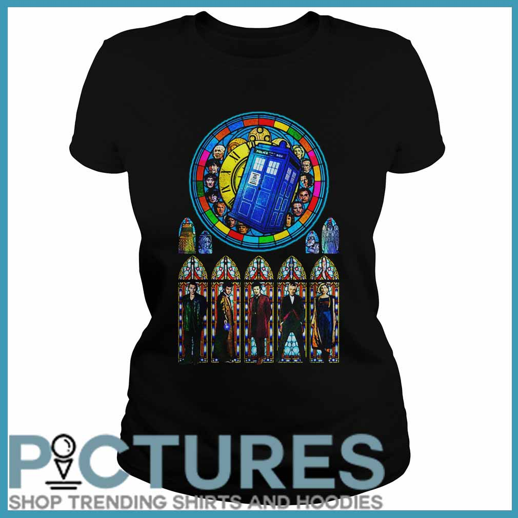 Doctor Who Stained glass Ladies tee