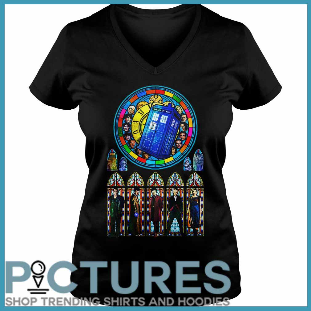 Doctor Who Stained glass V-neck