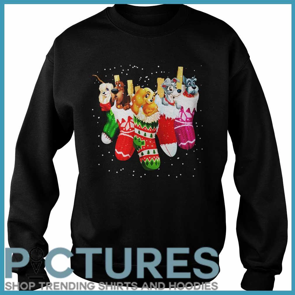 Dog in socks Christmas Sweater