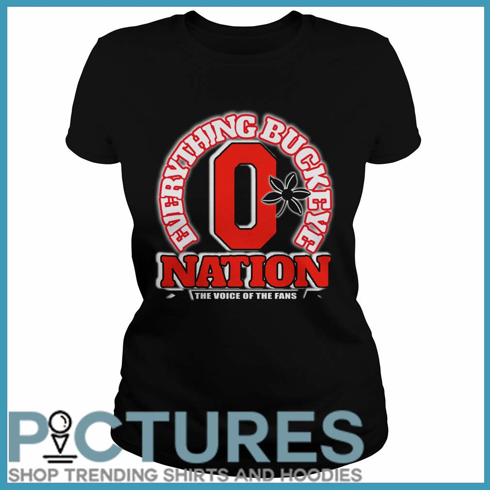 Everything Buckeye nation the voice of the fans Ladies tee