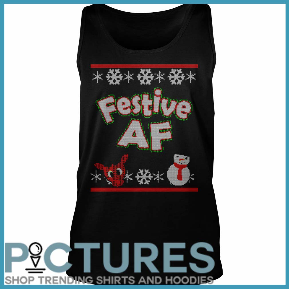 Festive AF Ugly Christmas Sweater tank top
