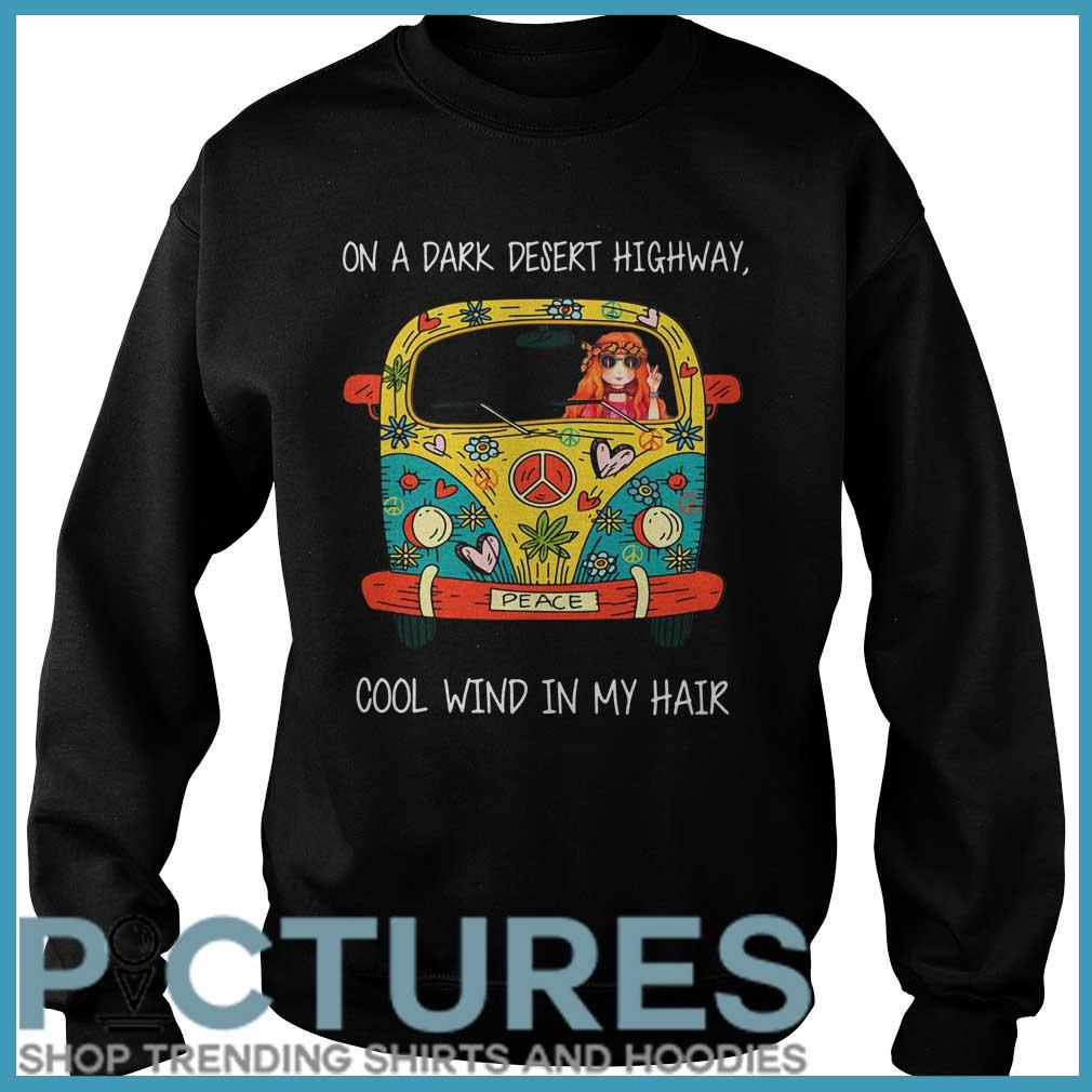 Hippie Flower Peace Bus on a dark desert highway cool wind in my hair Sweater