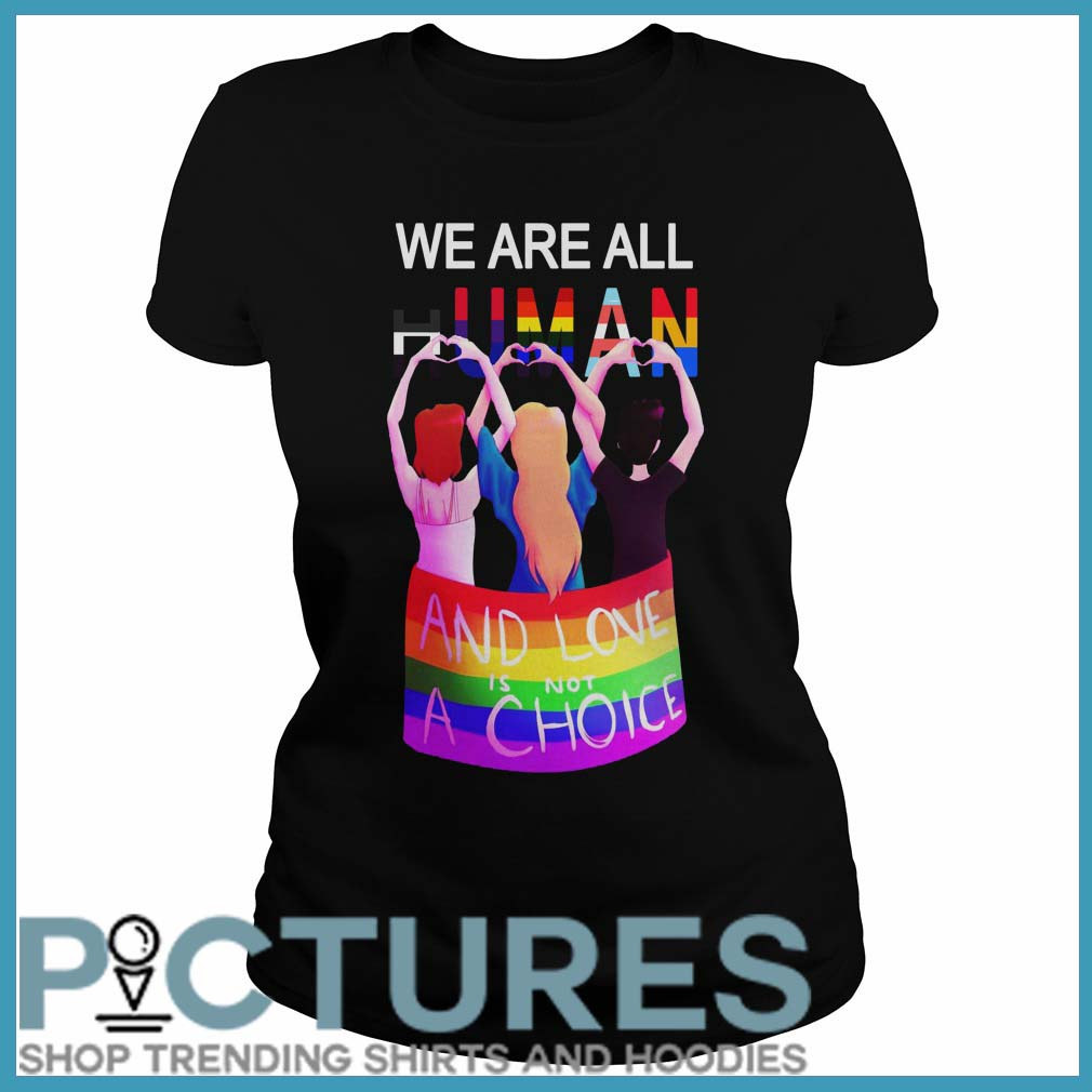 LGBT We are all human and love is not a choice Ladies tee