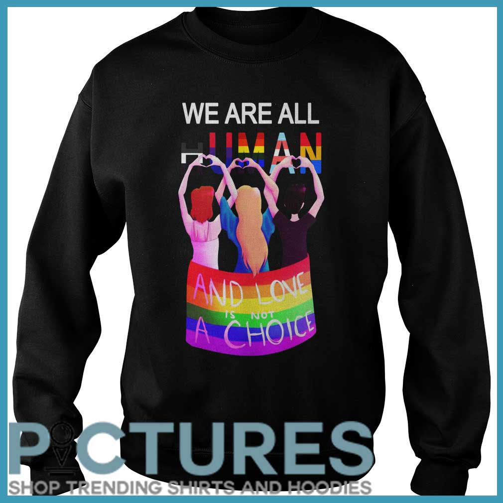 LGBT We are all human and love is not a choice Sweater