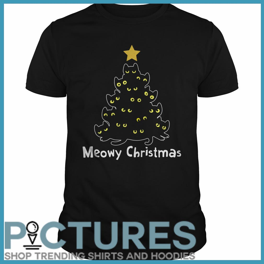 Meowy Christmas Guys tee