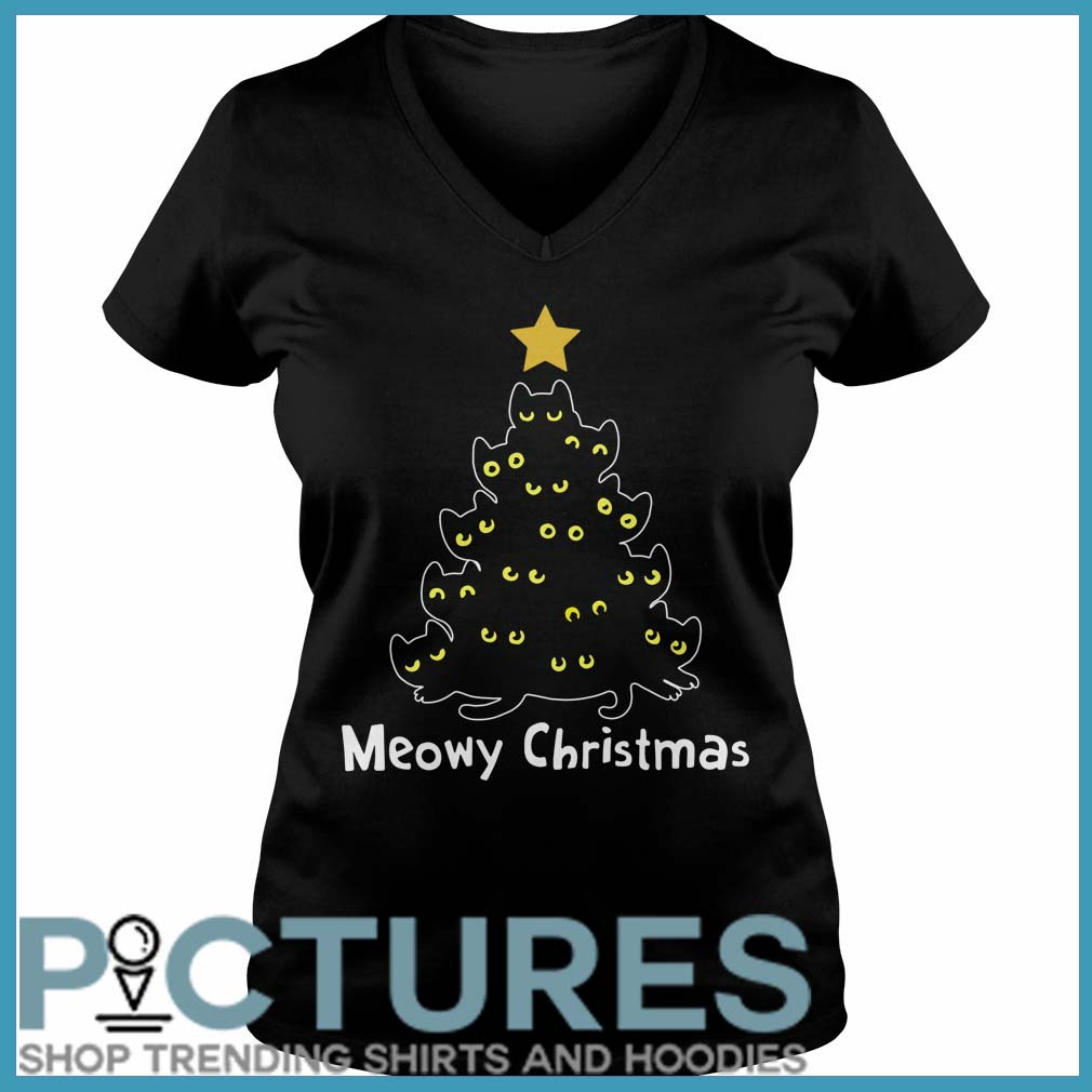 Meowy Christmas V-neck
