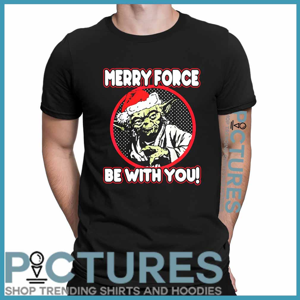 Star Wars Yoda Merry Force Be With You Christmas Shirt