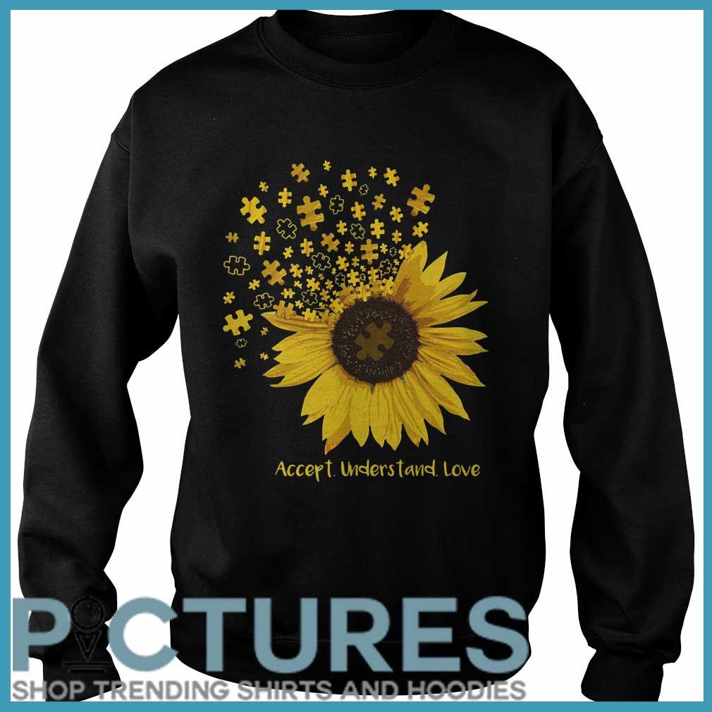 Sunflower Autism accept understand love Sweater