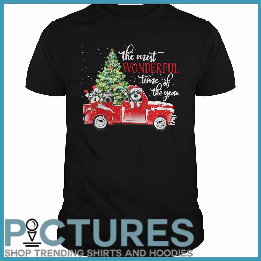 The most wonderful time of the year Dog Christmas Guys tee