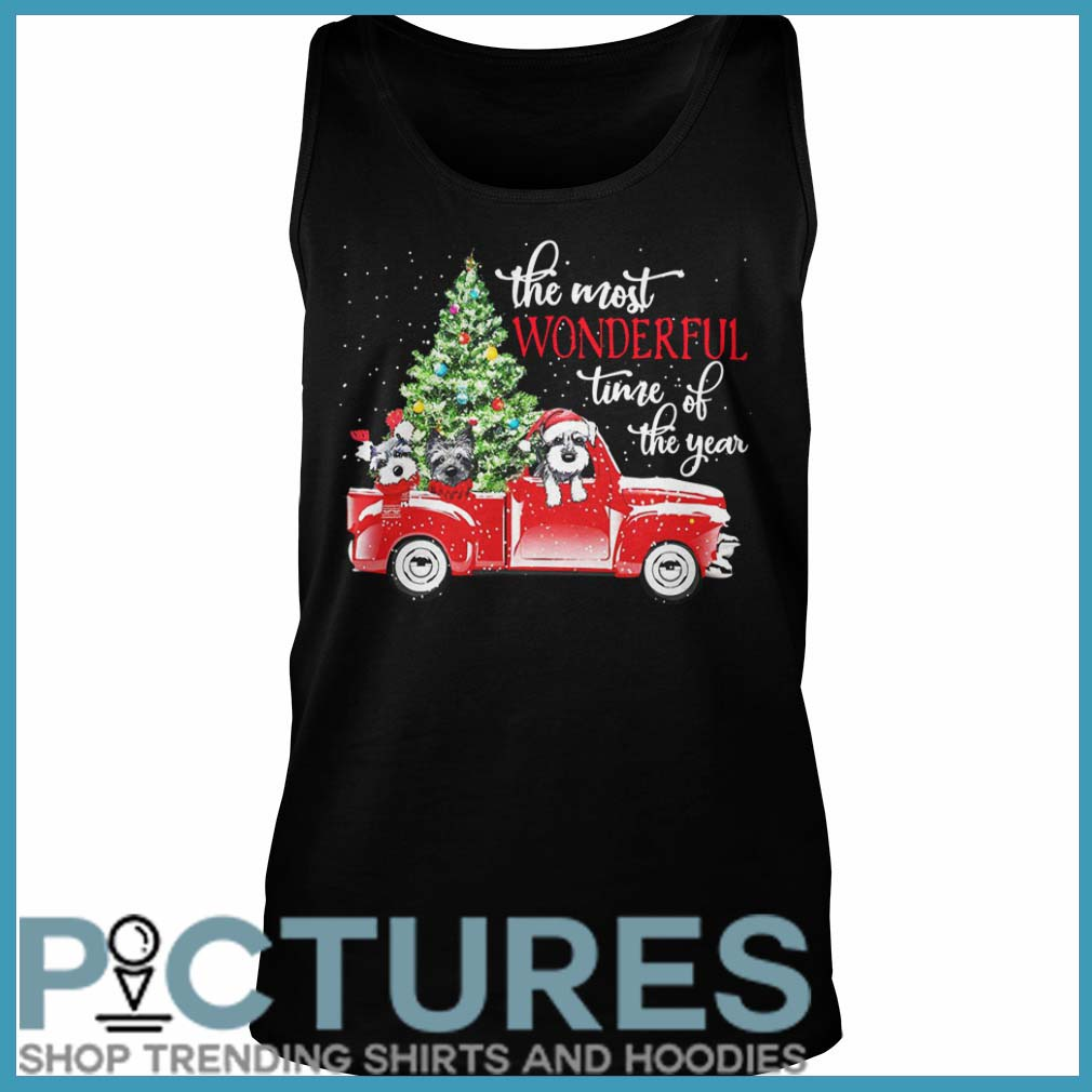 The most wonderful time of the year Dog Christmas Tank top