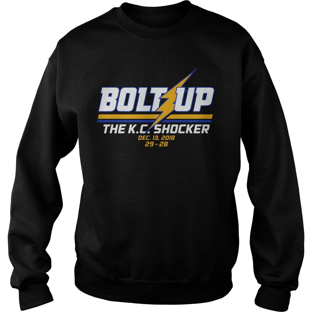 Bolt up the K.C. Shocker sweater
