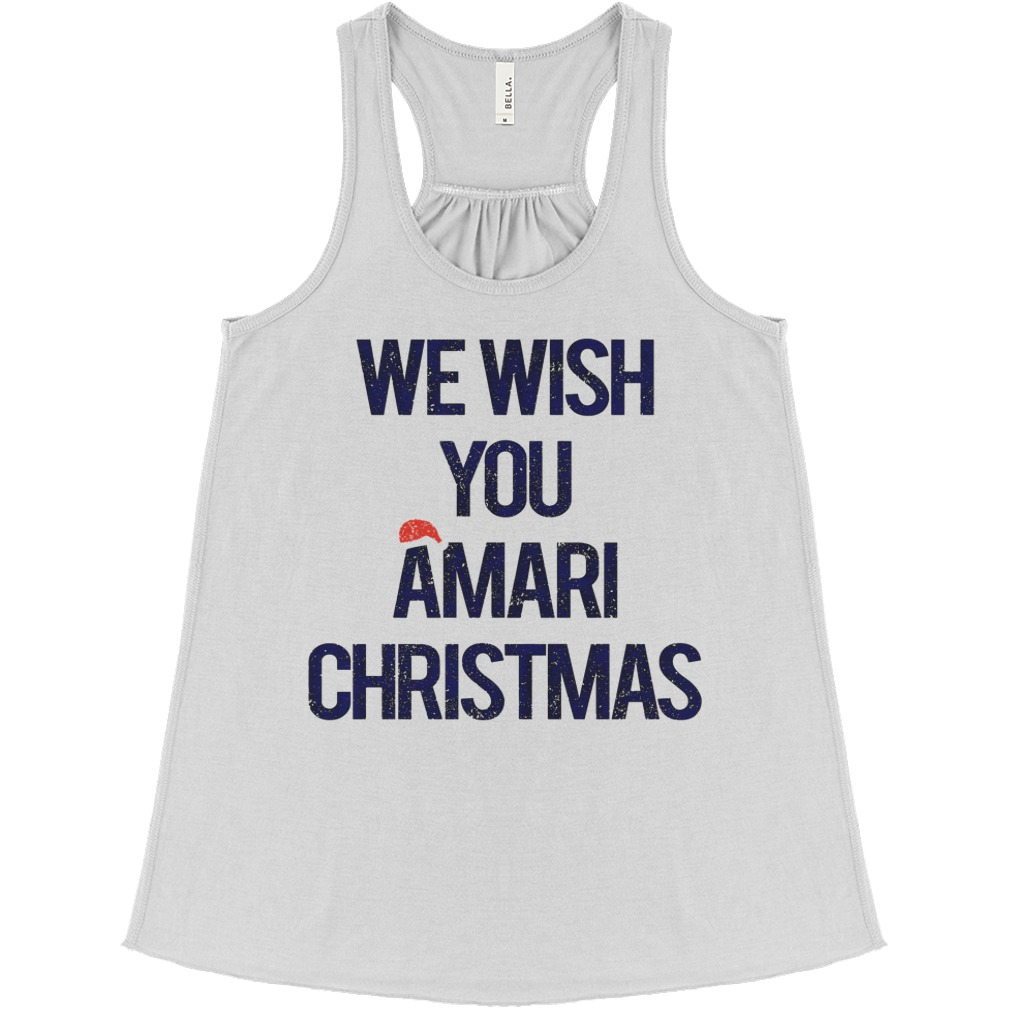 We wish you Amari Christmas flowy tank