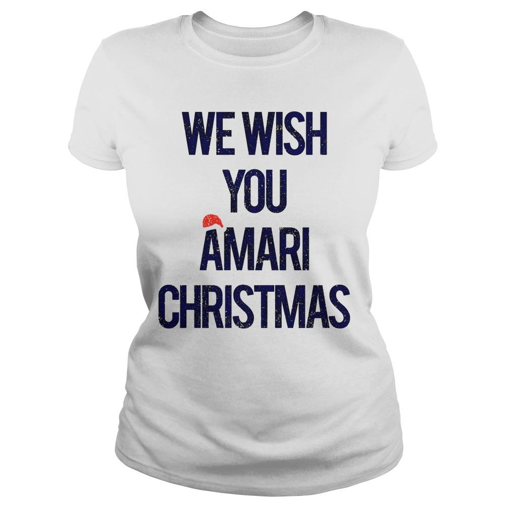 We wish you Amari Christmas ladies tee
