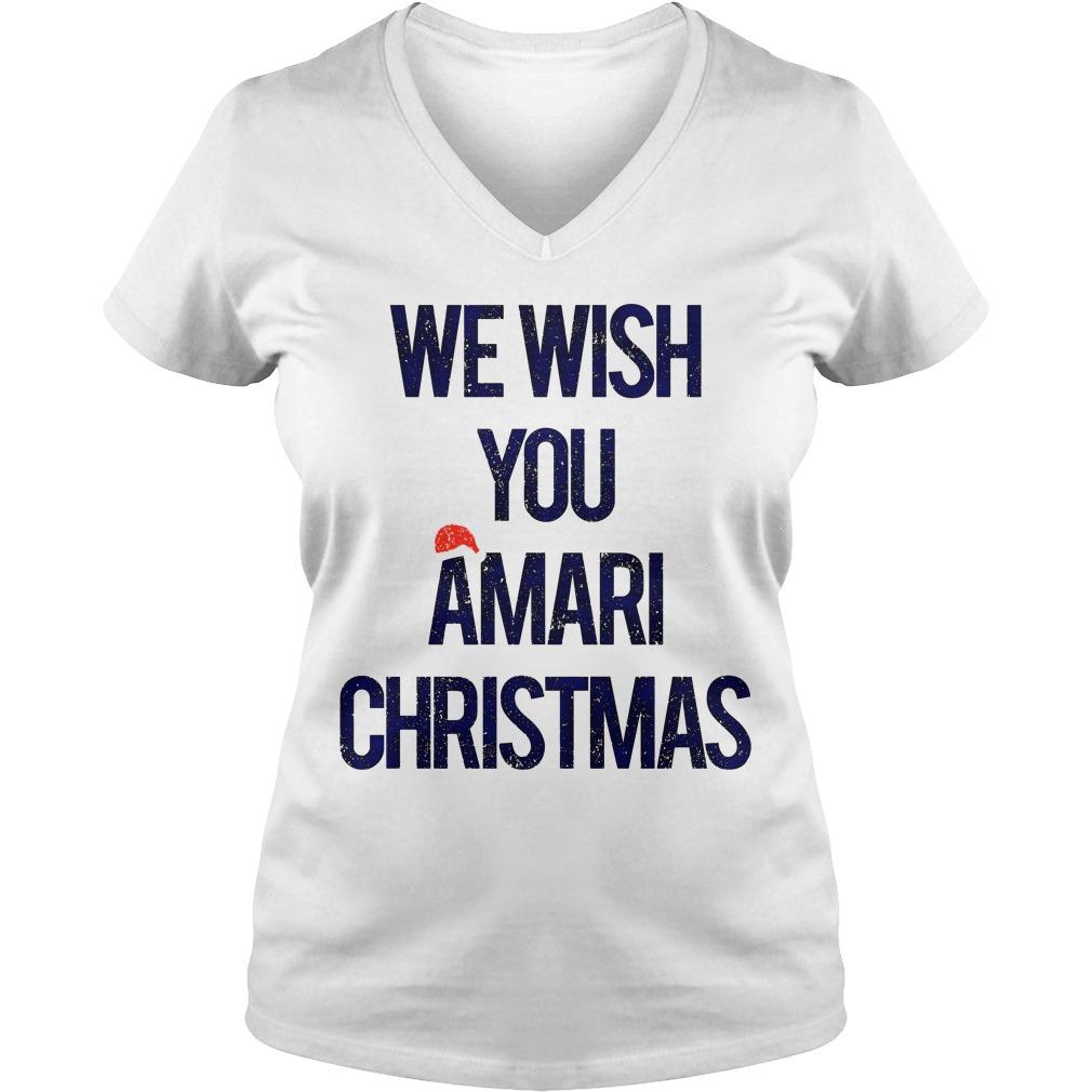 We wish you Amari Christmas v-neck