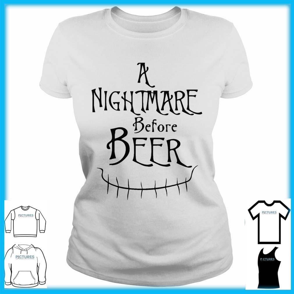 A Nightmare Before Beer Ladies Tee