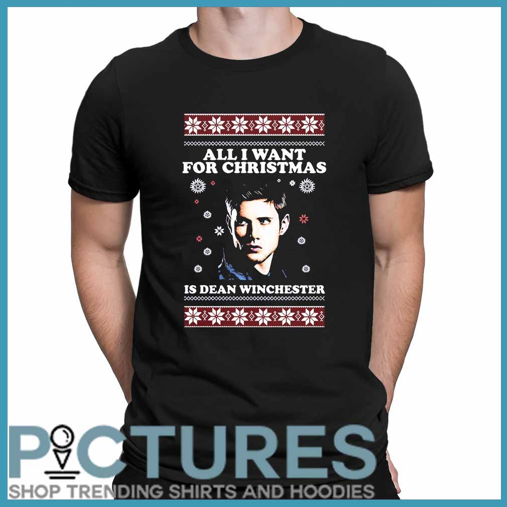 All I want for Christmas is Dean Winchester ugly shirt