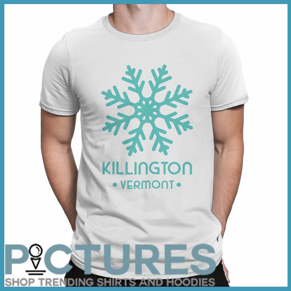 Blue Snowflake Killington vermont shirt