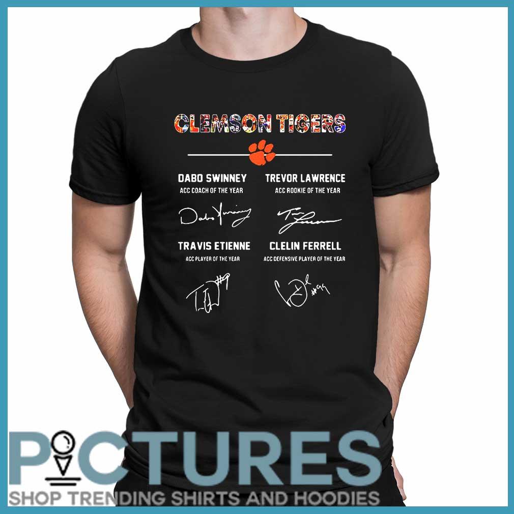 Clemson Tigers Signature Dabo Swinney, Trevor Lawrence, Travis Etienne, Clelin Ferrel shirt