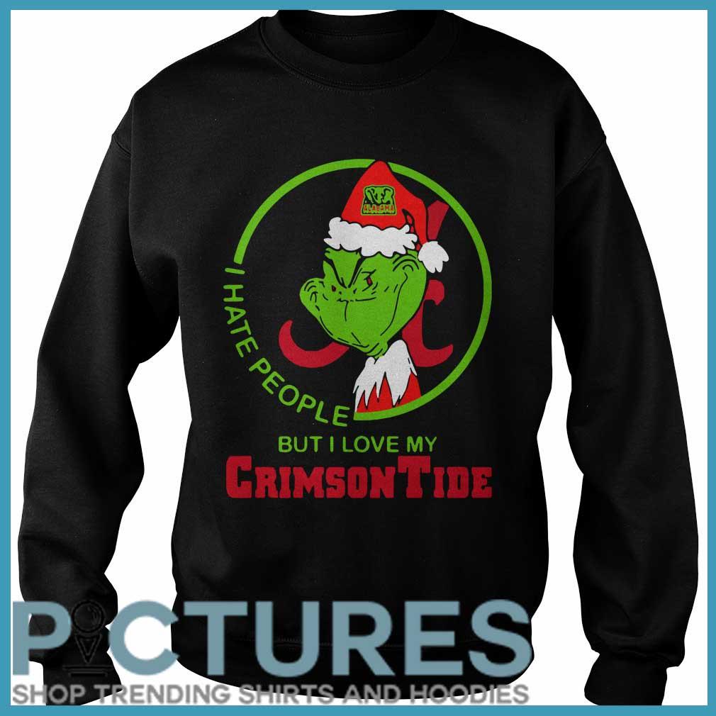 Grinch Alabama I hate people but I love my Crimson Tide Sweater