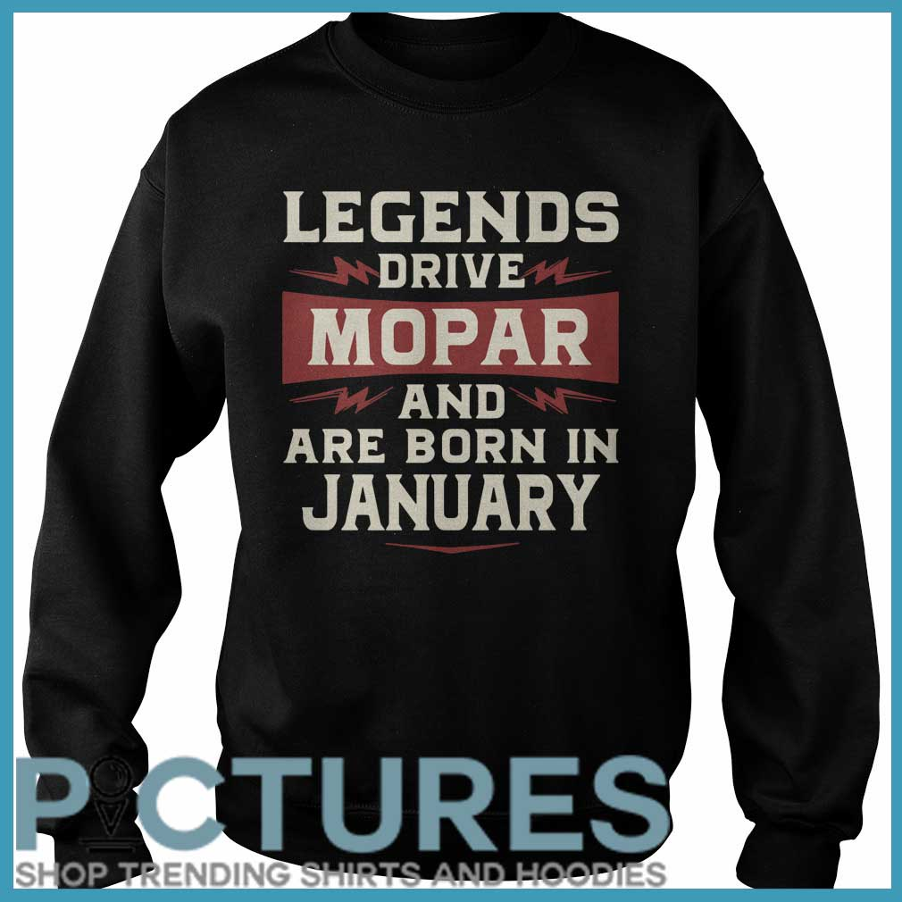 Legends Drive Mopar And Are Born In January Sweater