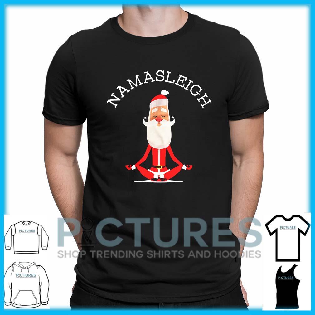 Namasleigh Funny Santa Yoga Christmas shirt