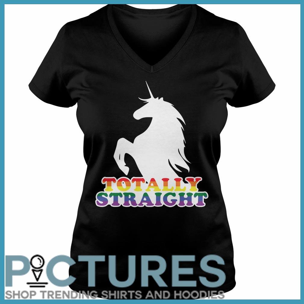 Totally Straight Unicorn V-neck