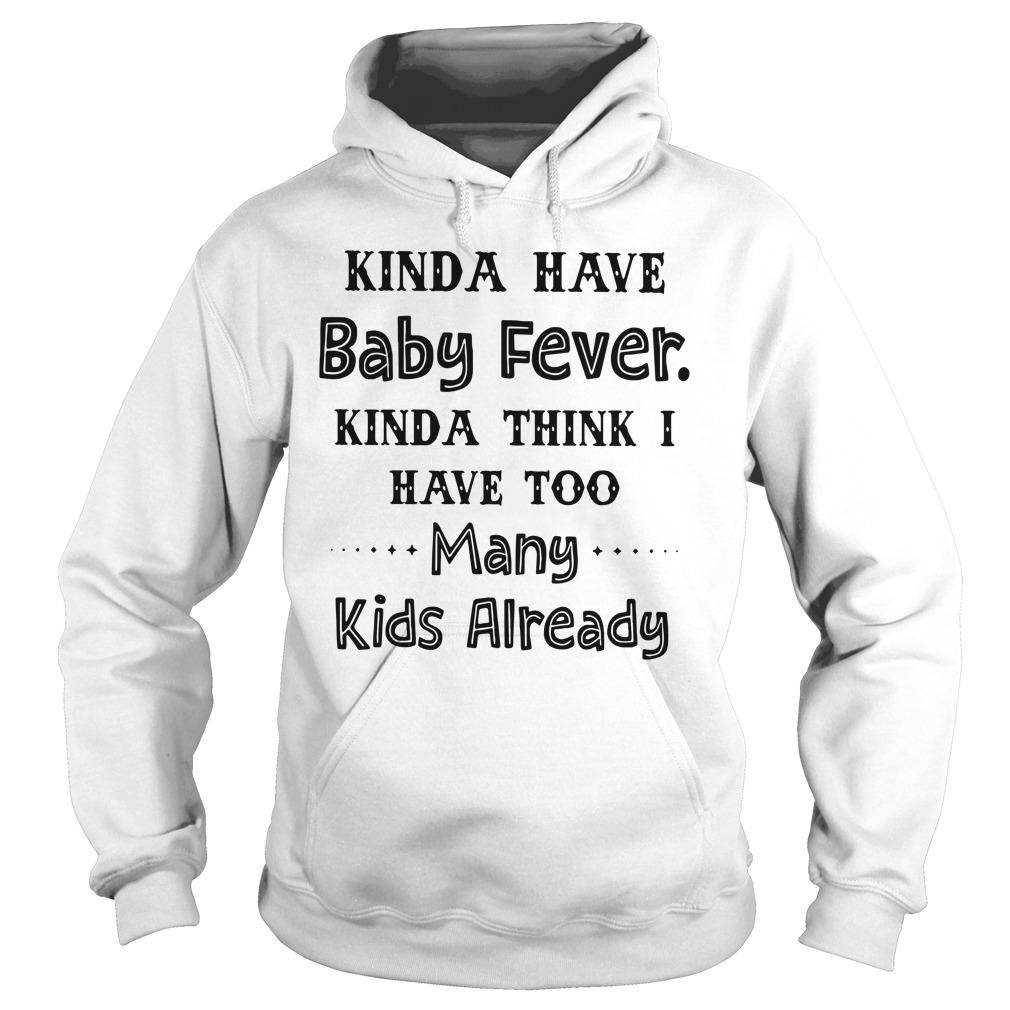 Kinda have baby fever kinda think I have too many kids already hoodie
