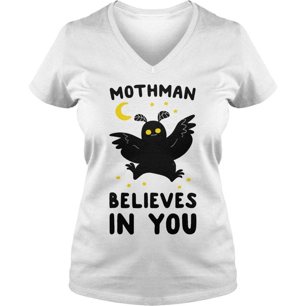 Mothman believes in you v-neck