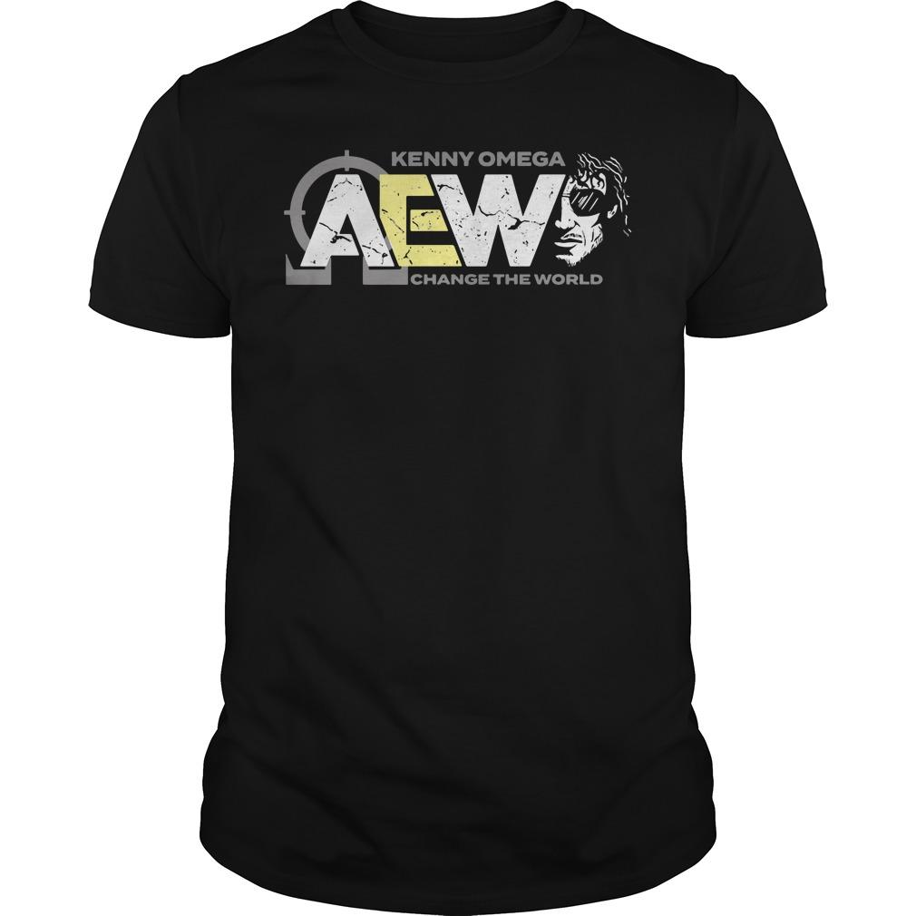 AEW Kenny Omega change the world guys tee