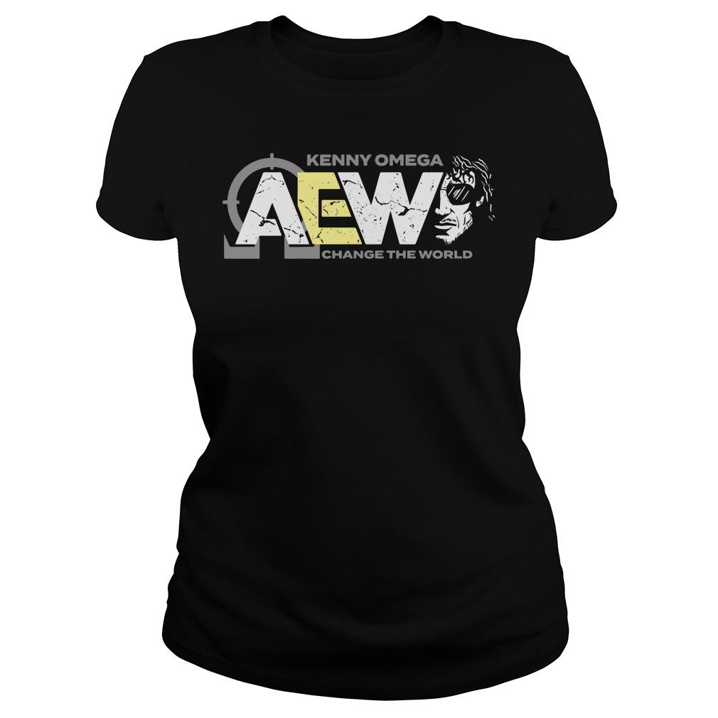 AEW Kenny Omega change the world ladies tee