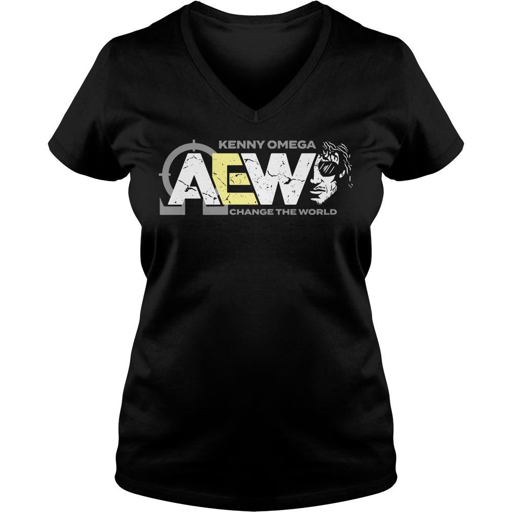 AEW Kenny Omega change the world v-neck