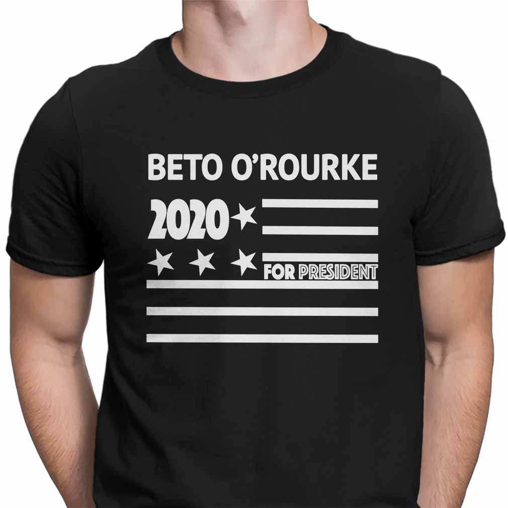 Beto O'rourke 2020 for president flag shirt