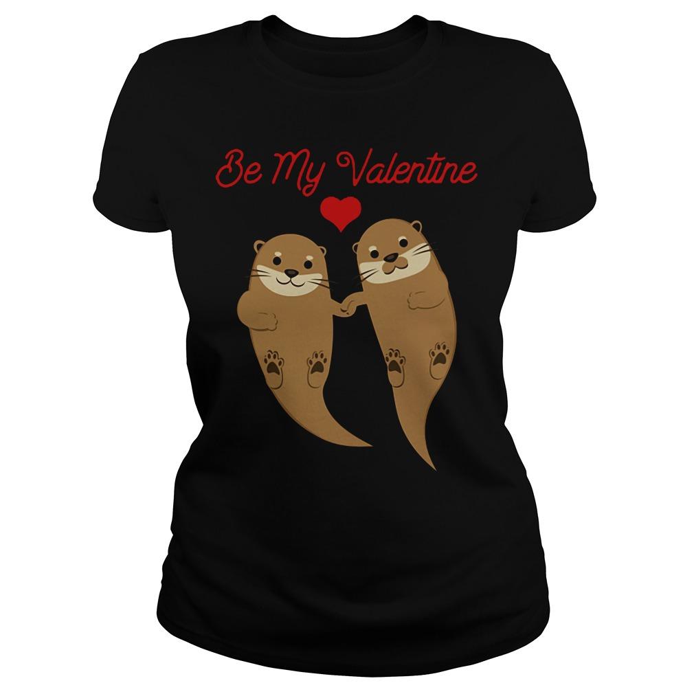 Otters Be My Valentine ladies tee