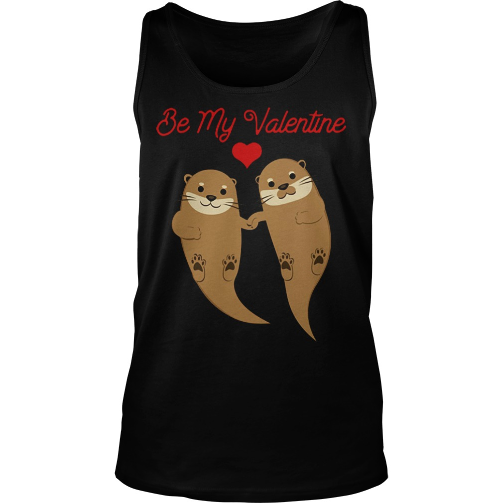 Otters Be My Valentine tank top