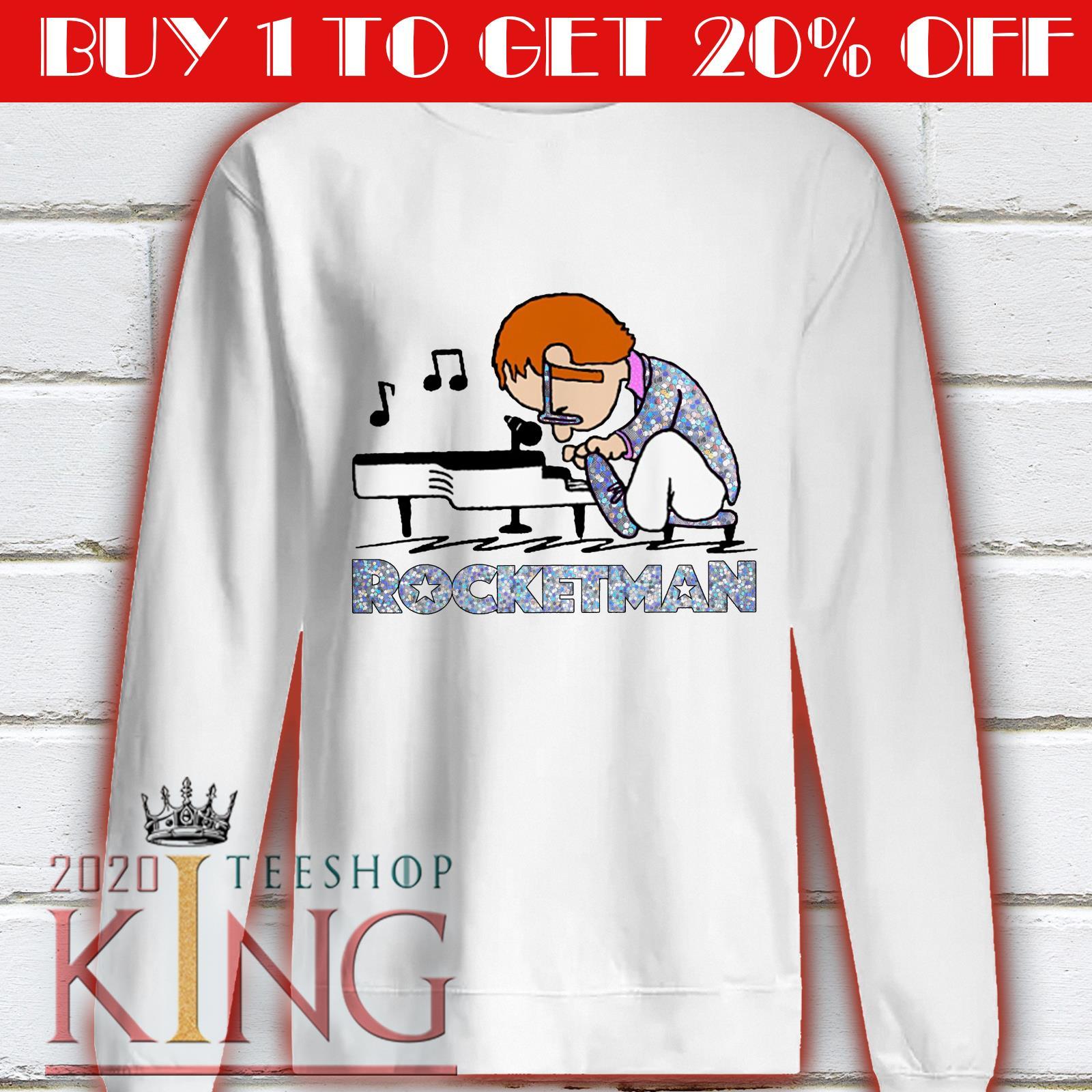 Elton John Playing Piano Rocketman shirt 1 Picturestees Clothing - T Shirt Printing on Demand