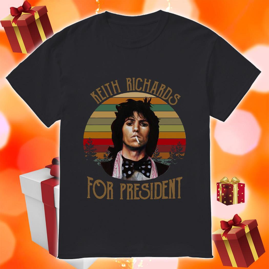 Keith Richards for president vintage shirt