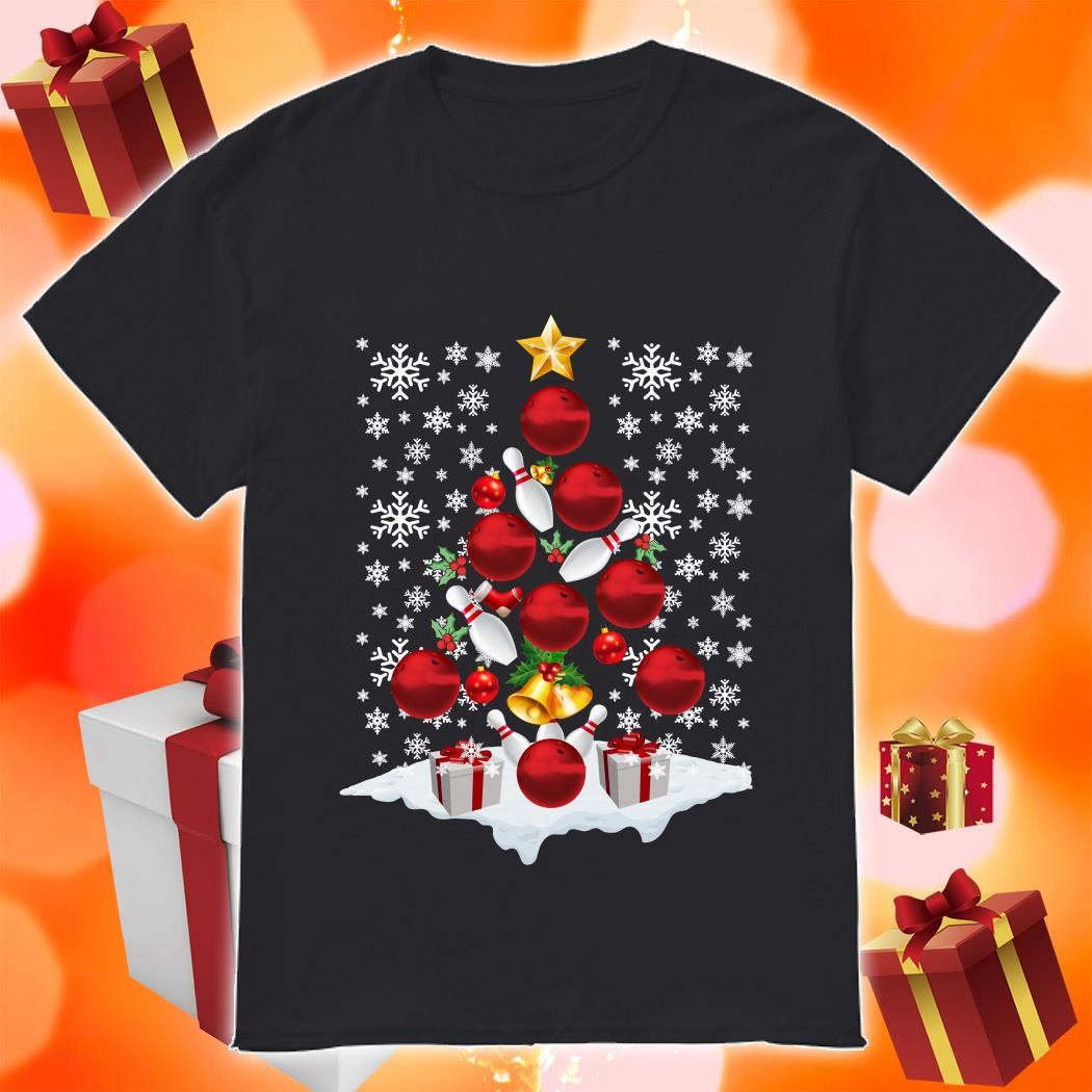 Bowling Christmas Tree shirt